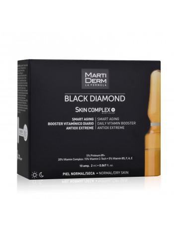 MartiDerm Ампулы для лица для нормальной и сухой кожи Блэк даймонд Скин Комплекс+