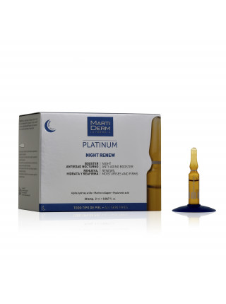 Ампулы MartiDerm Platinum Night Renew (30 ампул по 2 мл)