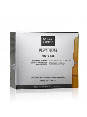 MartiDerm Ампулы для лица для кожи с признаками фотостарения Для всех типов кожи Платинум Коррекция фотостарения